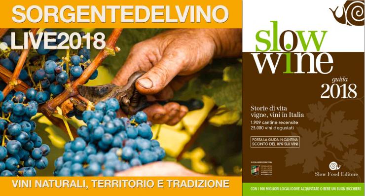 Sorgente del Vino live Slow Wine 2018